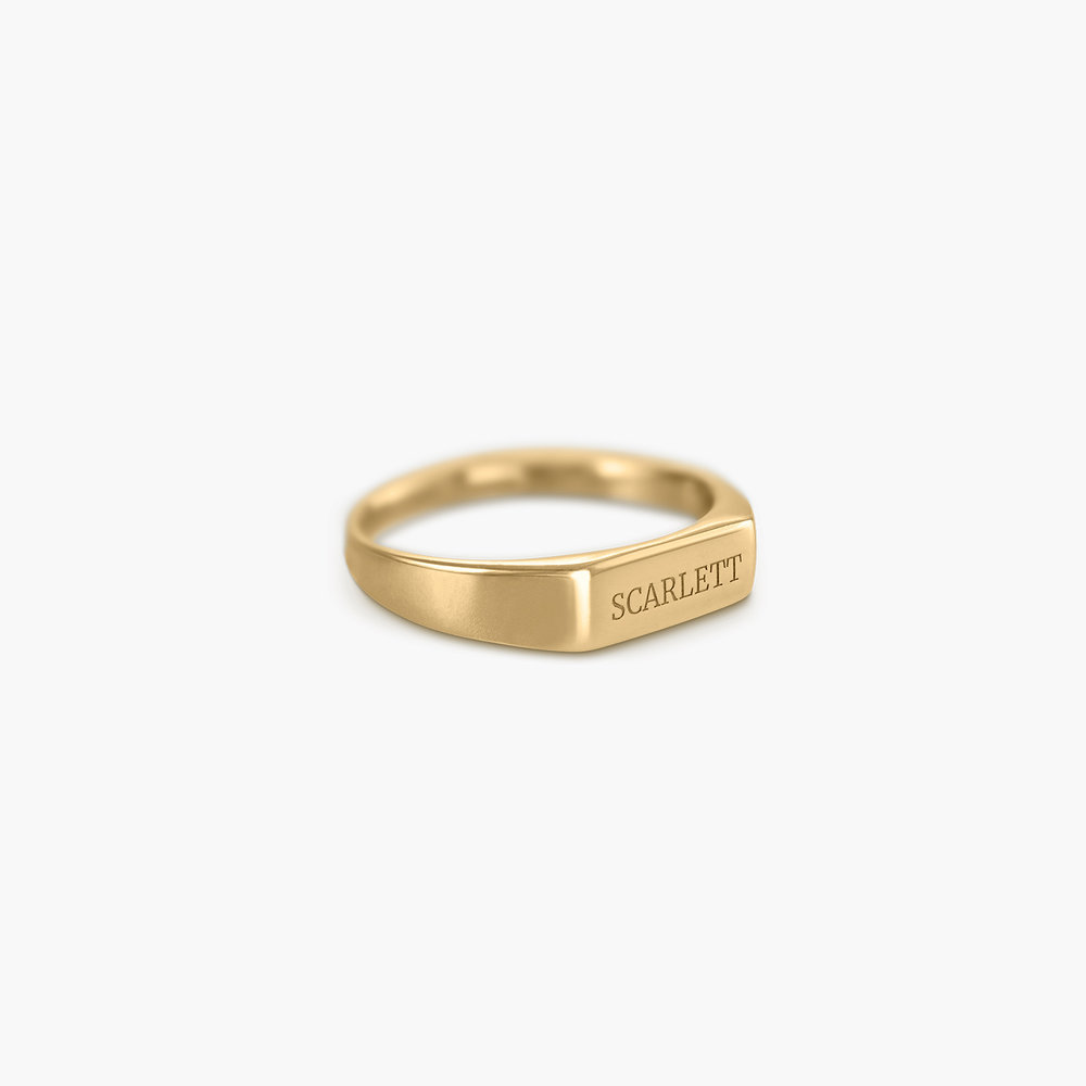 Luna Bar Name Ring - Gold Plated - 1