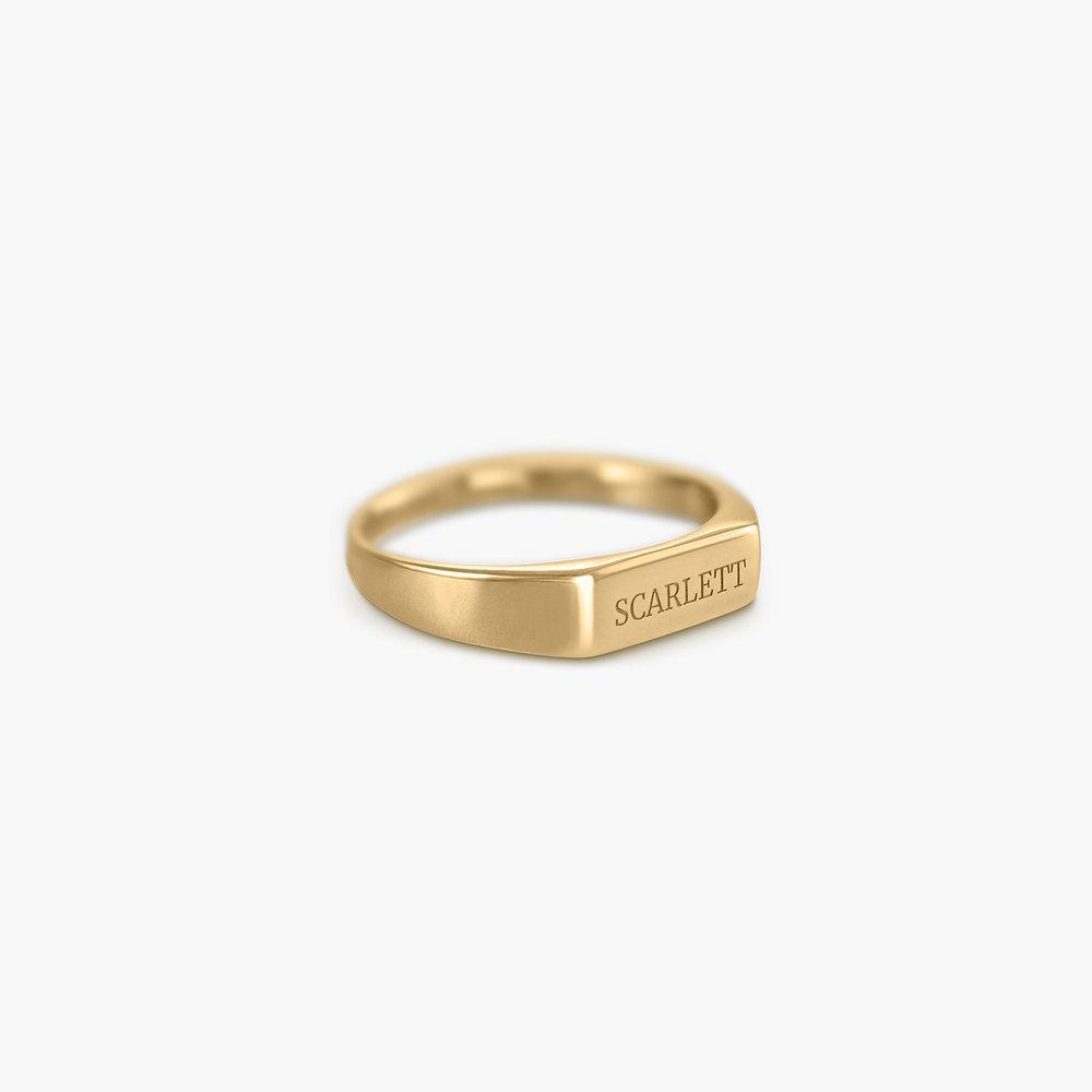 Luna Bar Name Ring - Gold Vermeil - 1