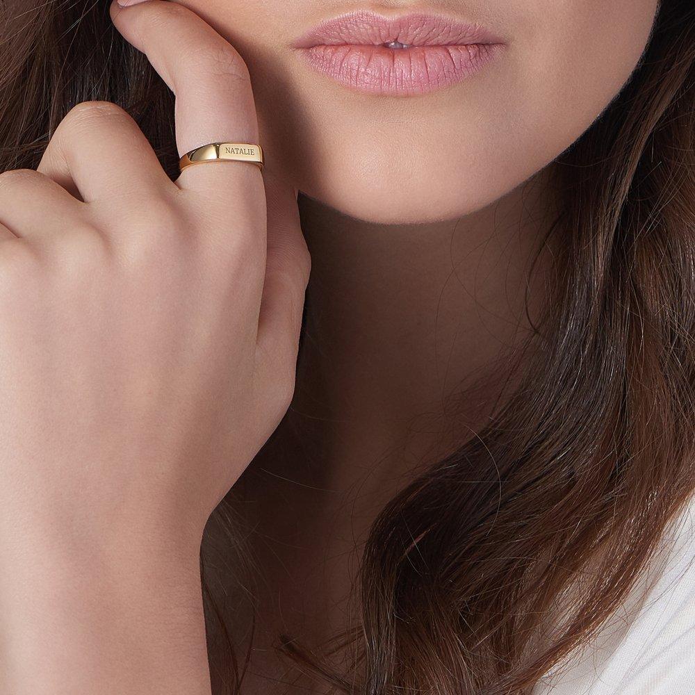 Luna Bar Name Ring - Gold Vermeil - 3