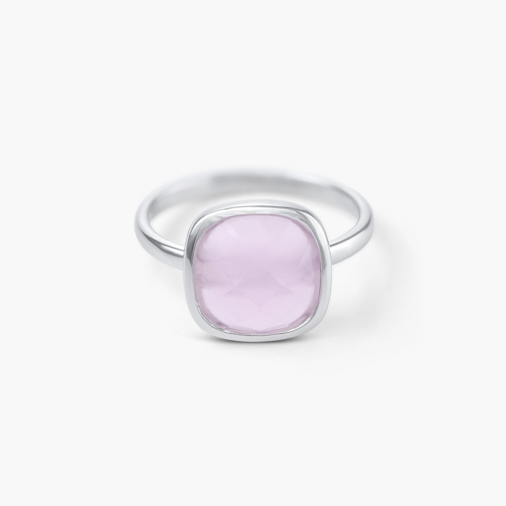 Pink Chalcedony Ring - Silver