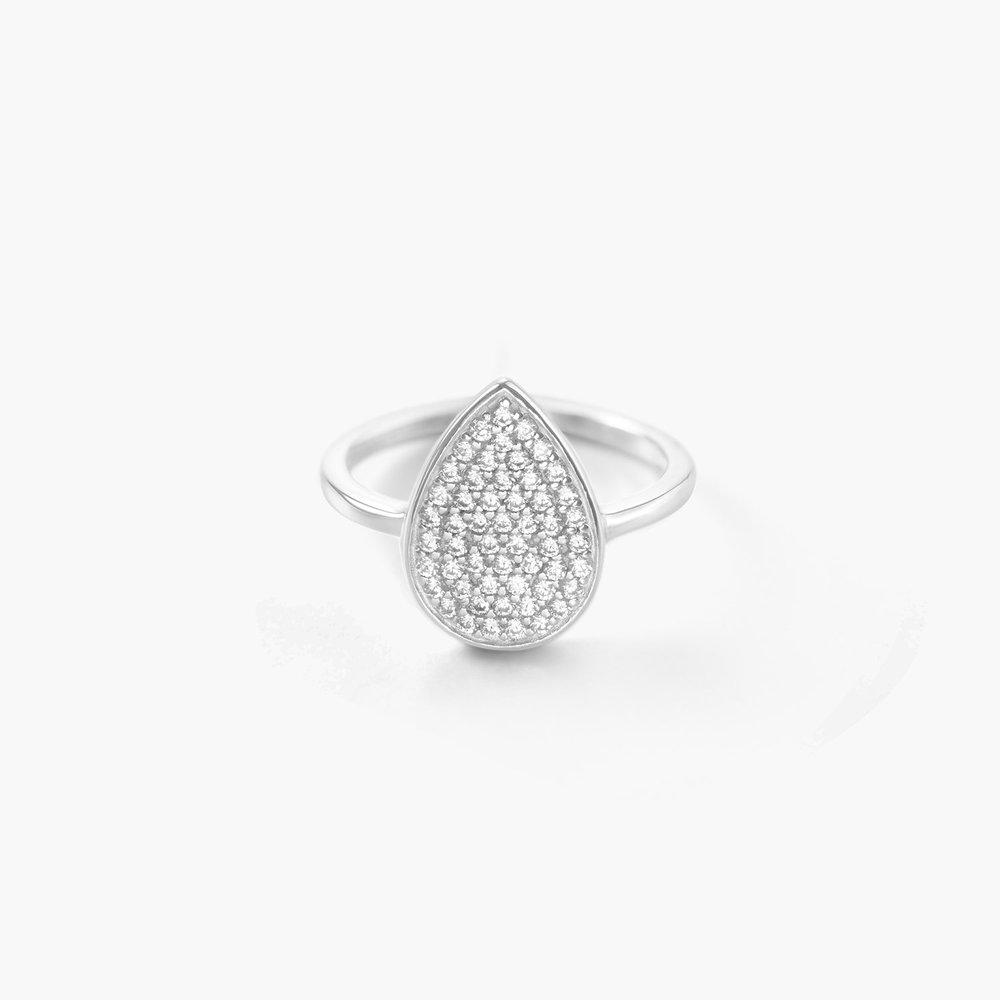 Stardust Teardrop Ring - Silver