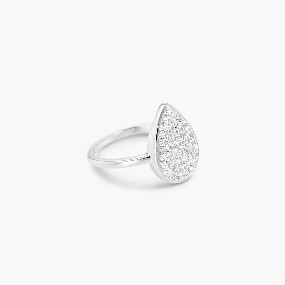 Stardust Teardrop Ring - Silver - 1