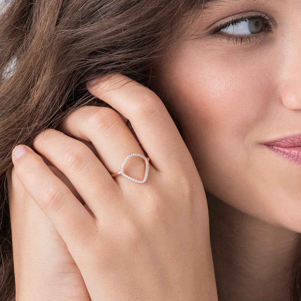 Siren Ring - Rose Gold Plated - 3