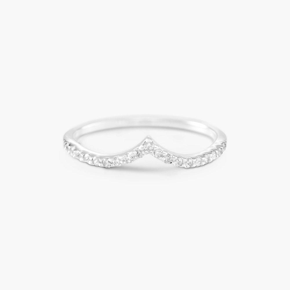 Serenity Wishbone Ring - Silver