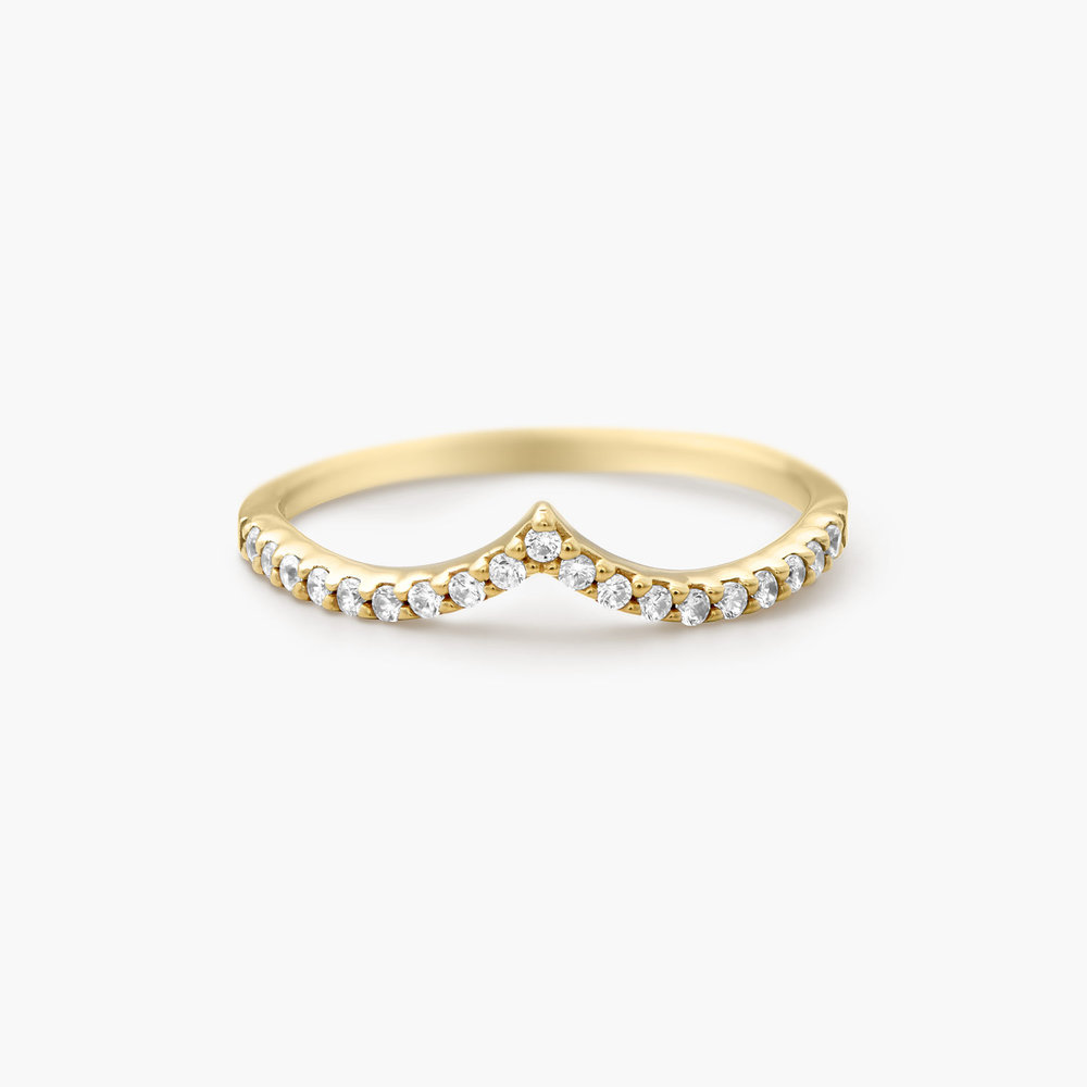 Serenity Wishbone Ring - Gold Plated