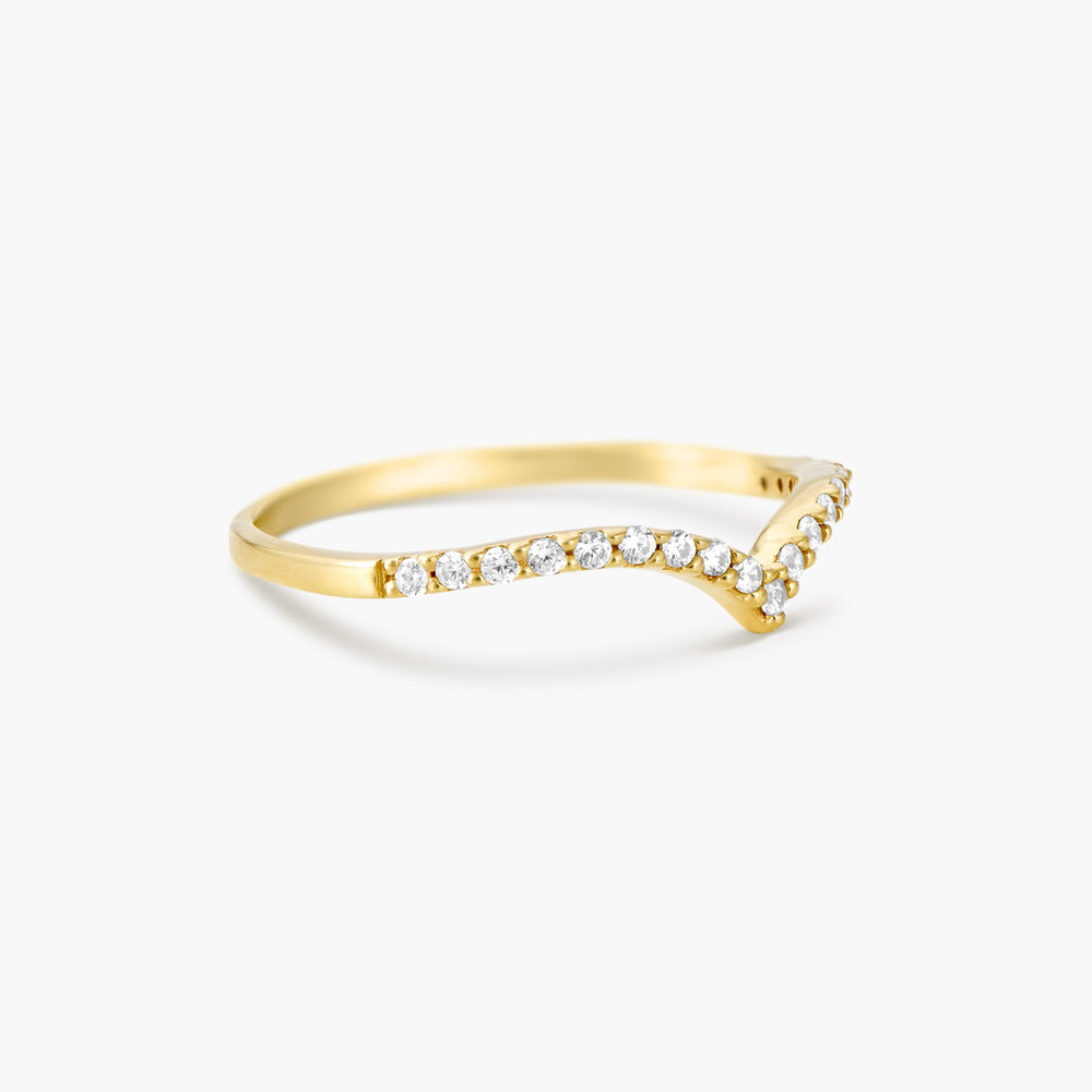 Serenity Wishbone Ring - Gold Plated - 1