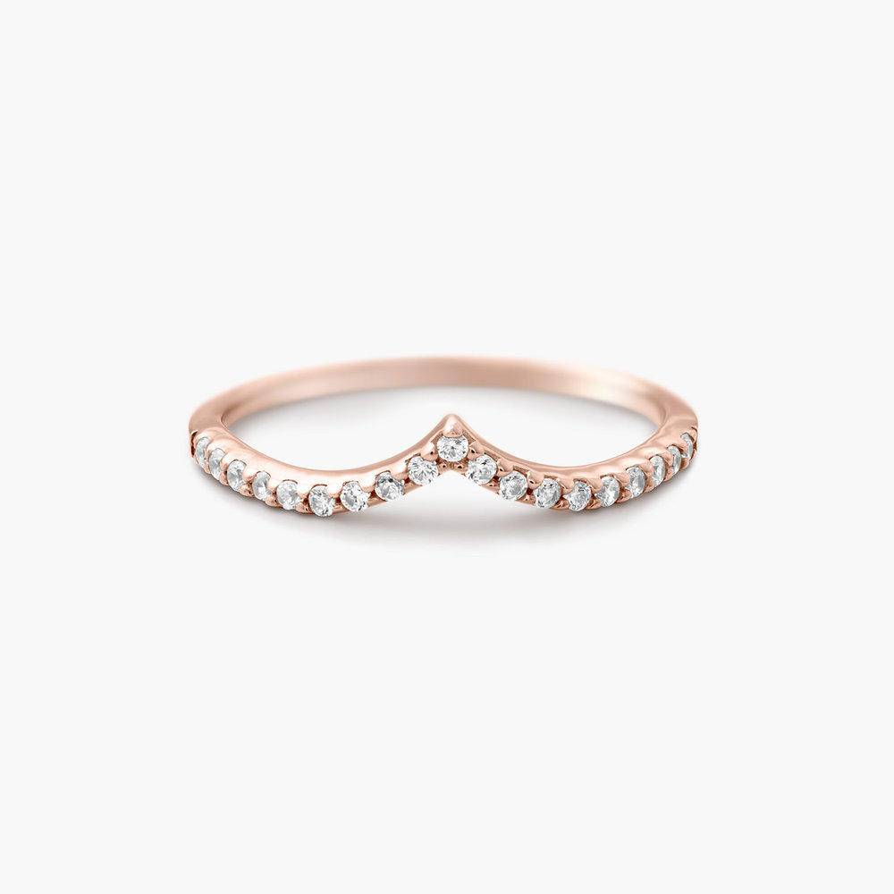 Serenity Wishbone Ring - Rose Gold Plated