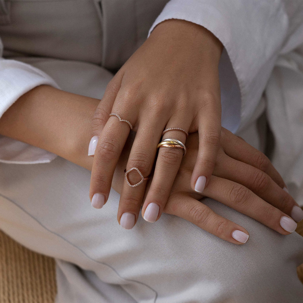 Serenity Ring - Rose Gold Plated - 3
