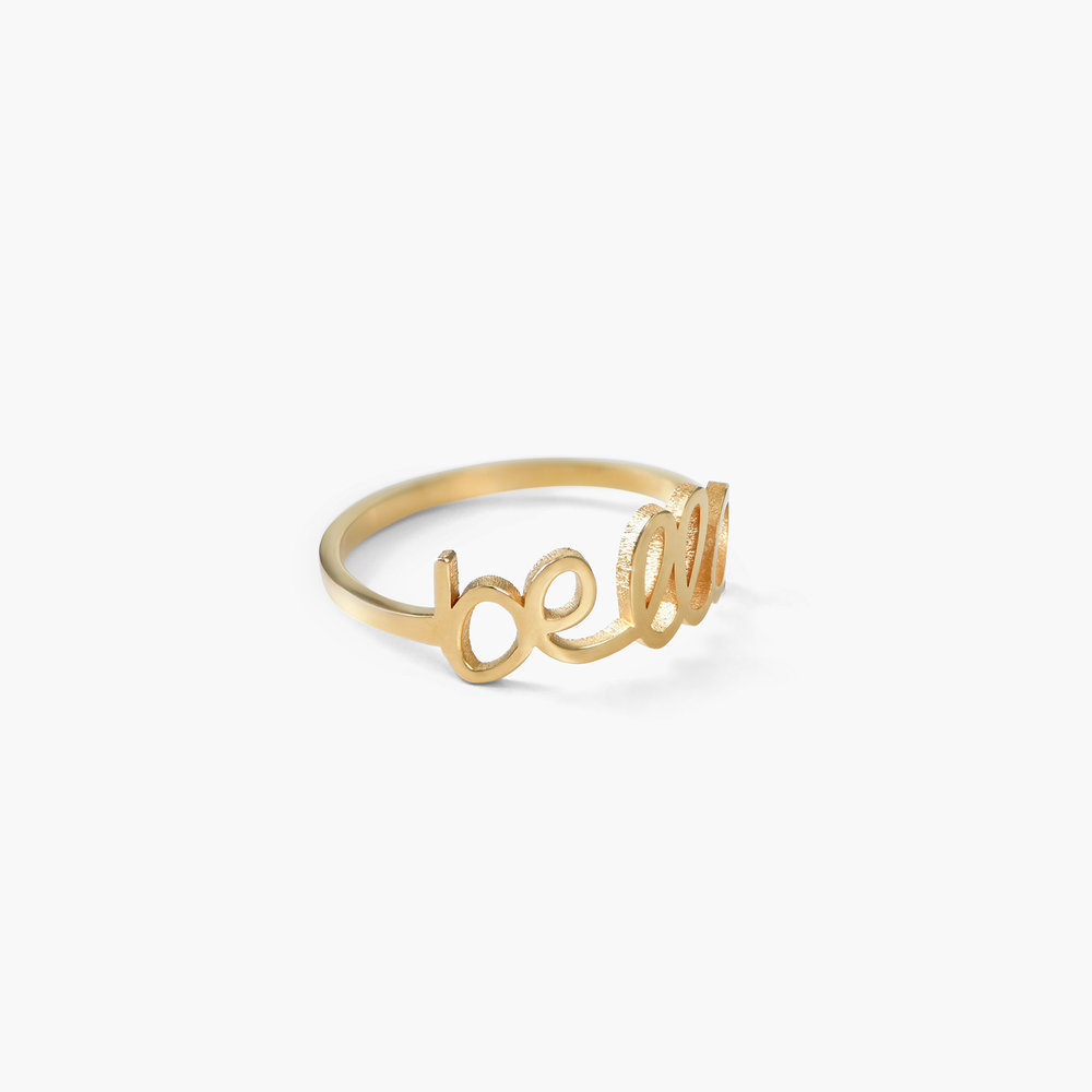 Pixie Name Ring - Gold Plated - 1