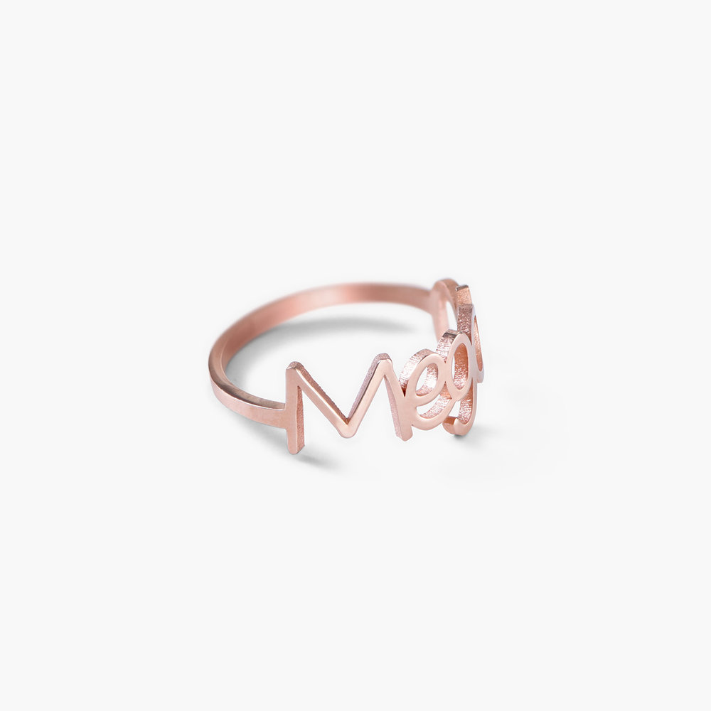 Pixie Name Ring - Rose Gold Plated - 1