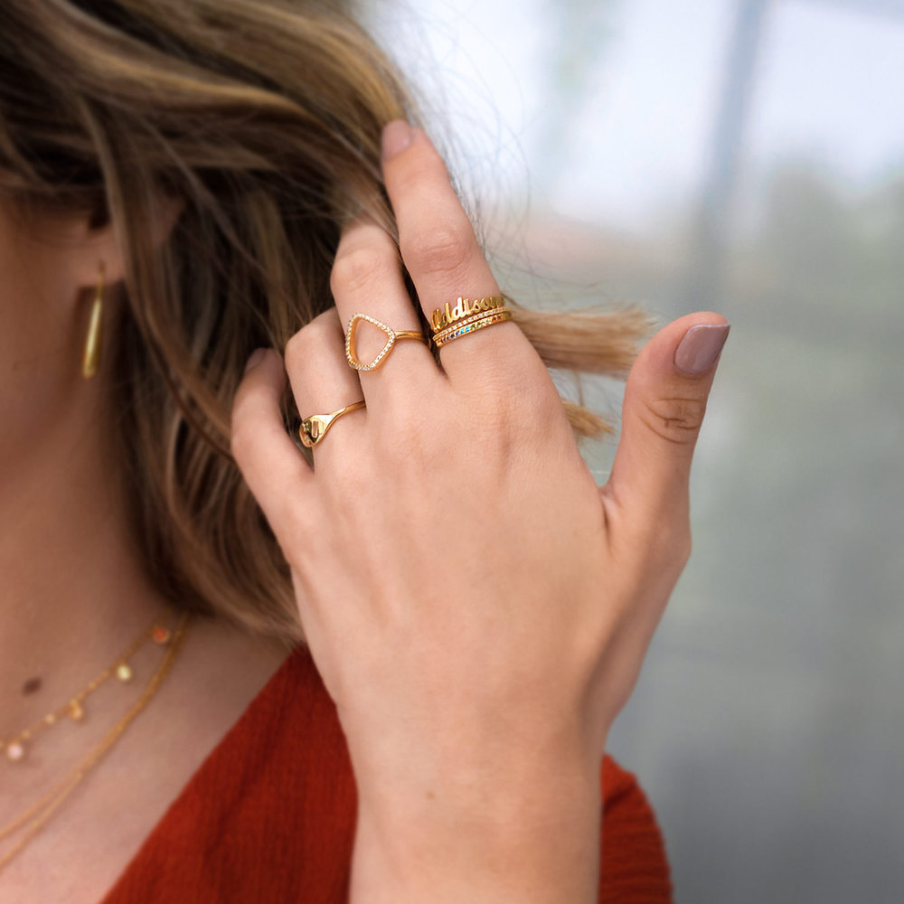 The One Name Ring - Gold Plated - 3