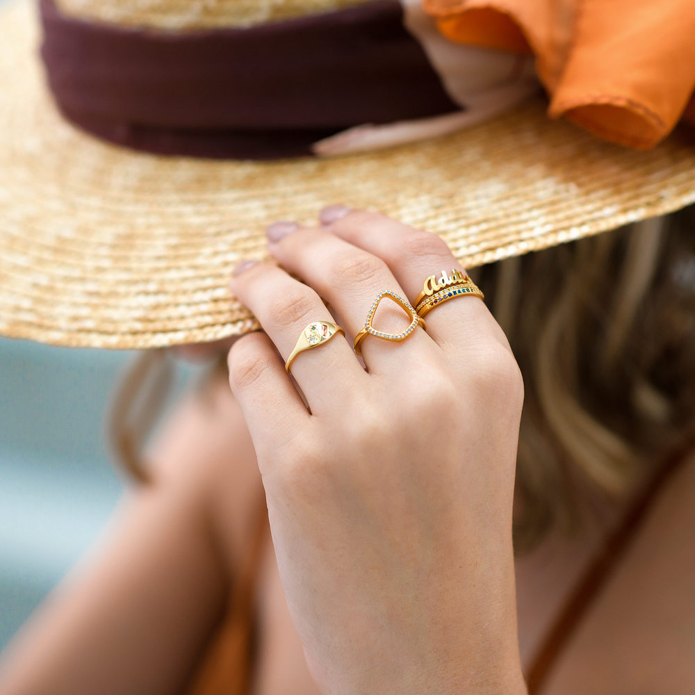 The One Name Ring - Gold Plated - 4