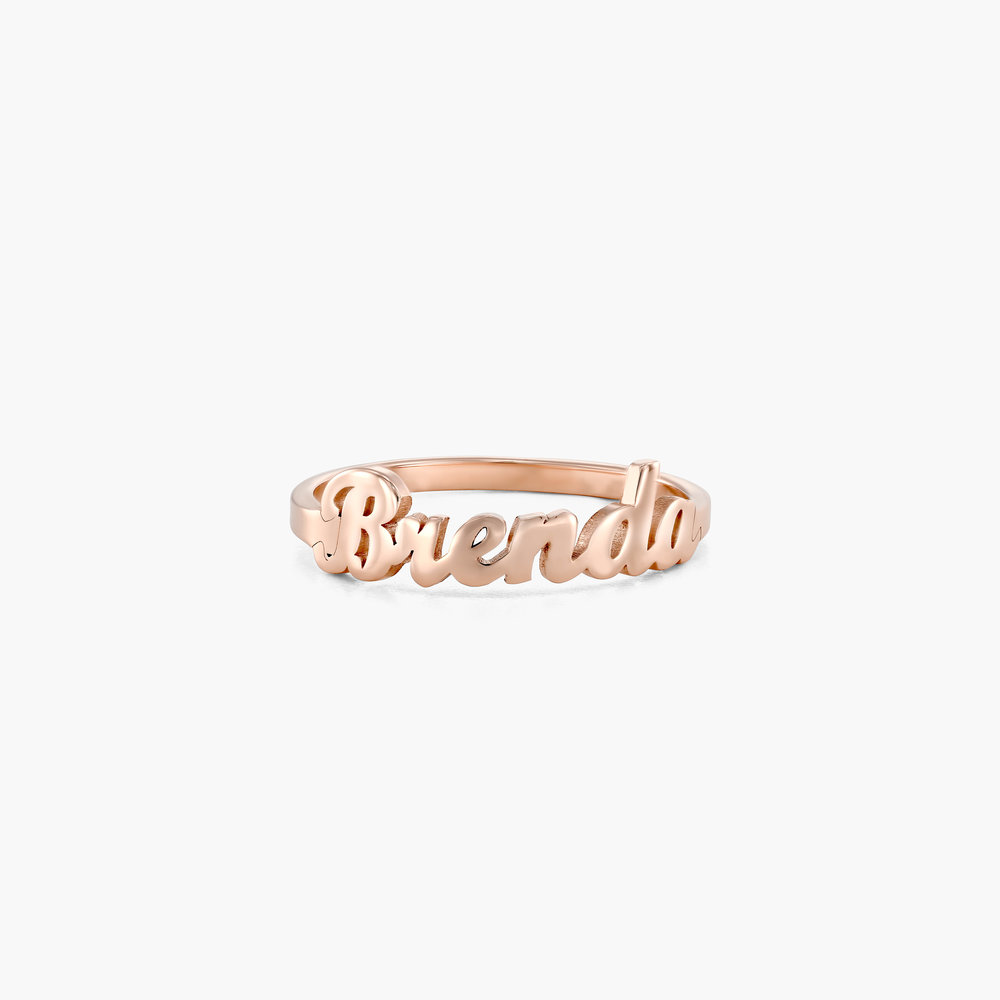 The One Name Ring - Rose Gold Plated