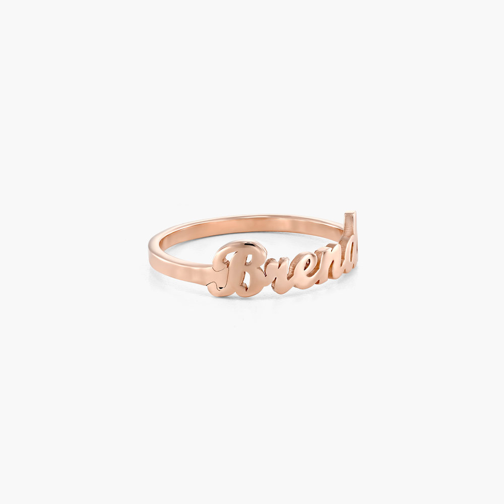 The One Name Ring - Rose Gold Plated - 1
