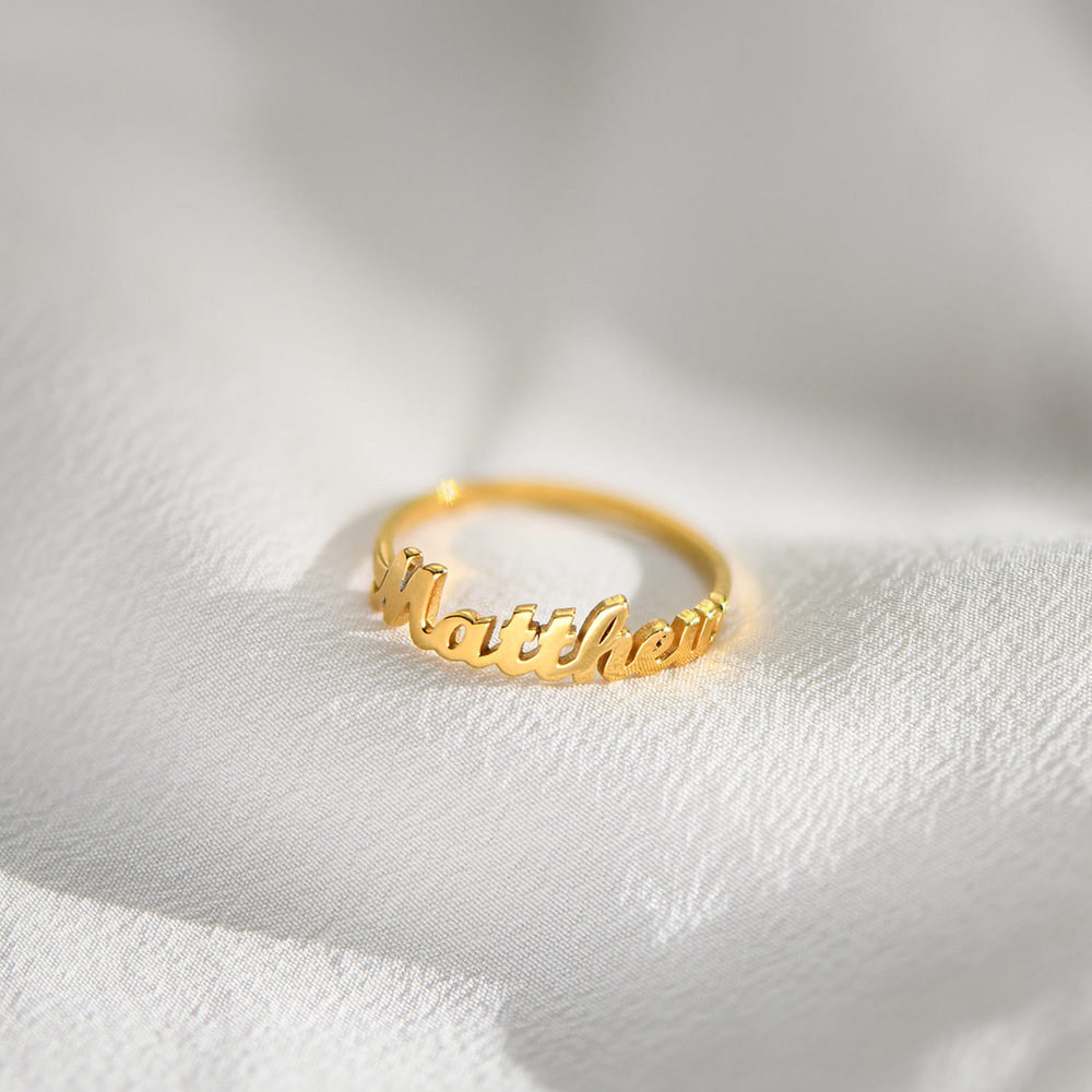 The One Name Ring - 18k Gold Vermeil - 2
