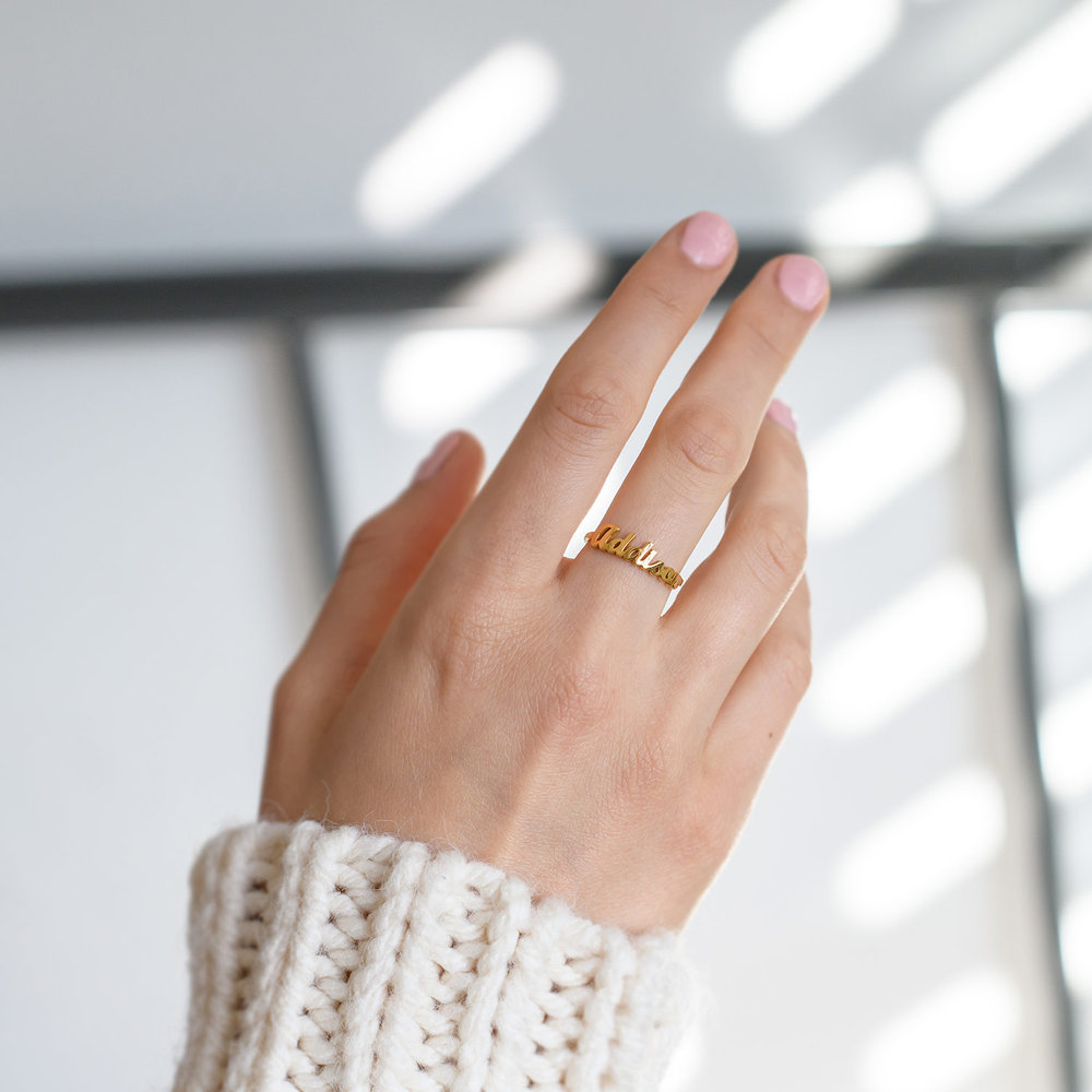 The One Name Ring - 18k Gold Vermeil - 3