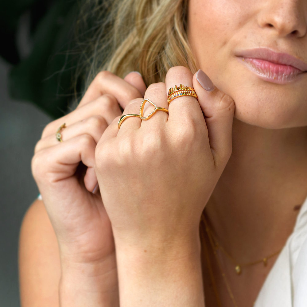 The One Name Ring - 18k Gold Vermeil - 4