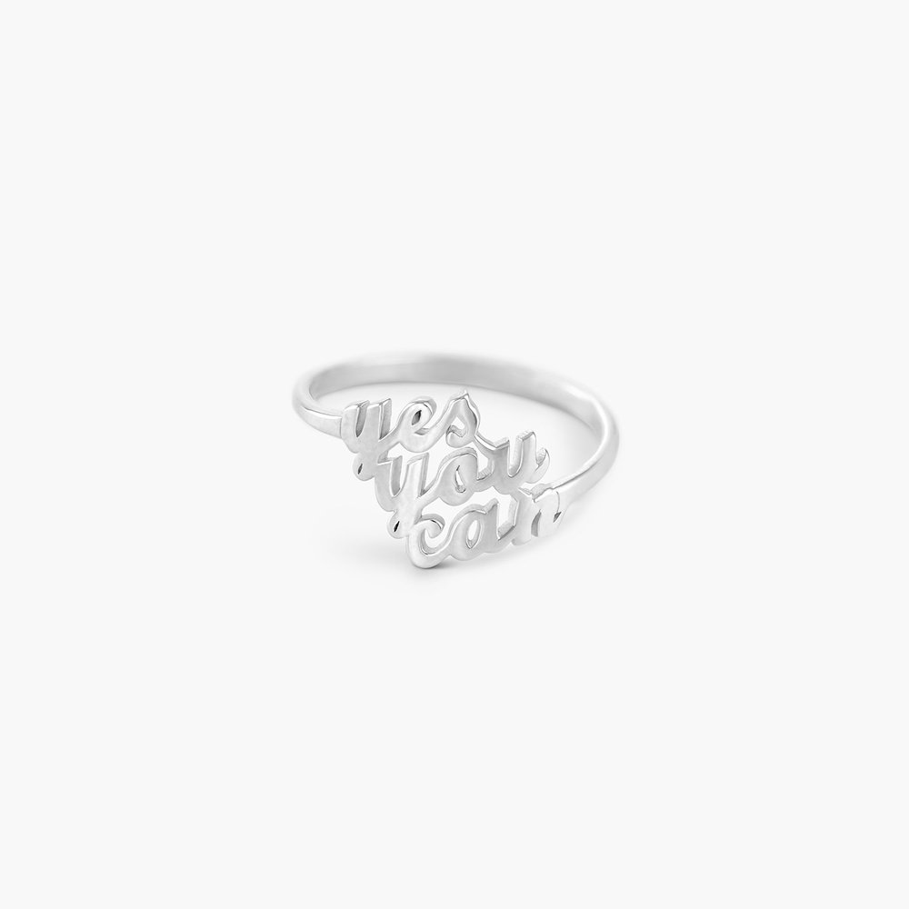 Three's a Charm Name Ring - Silver