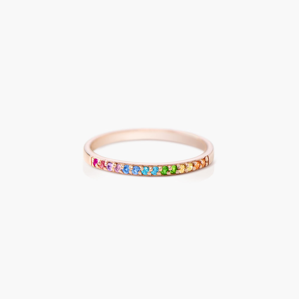 Rainbow Ring - Rose Gold Plated