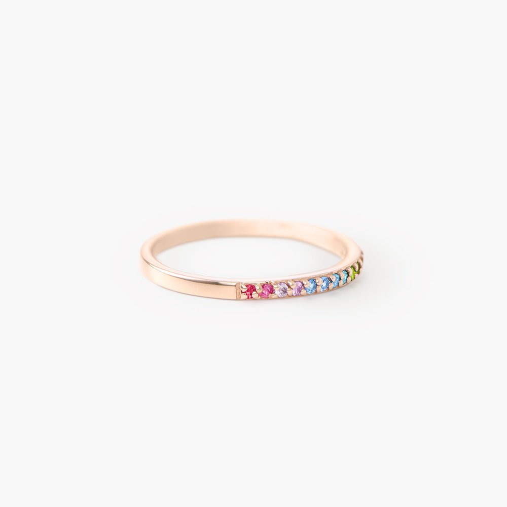 Rainbow Ring - Rose Gold Plated - 1