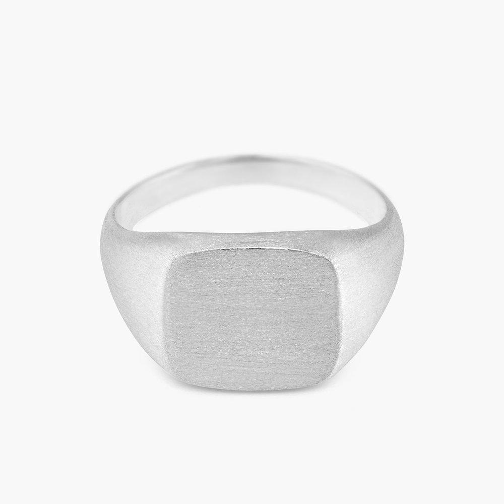 Mustang Steel Signet Ring - Silver