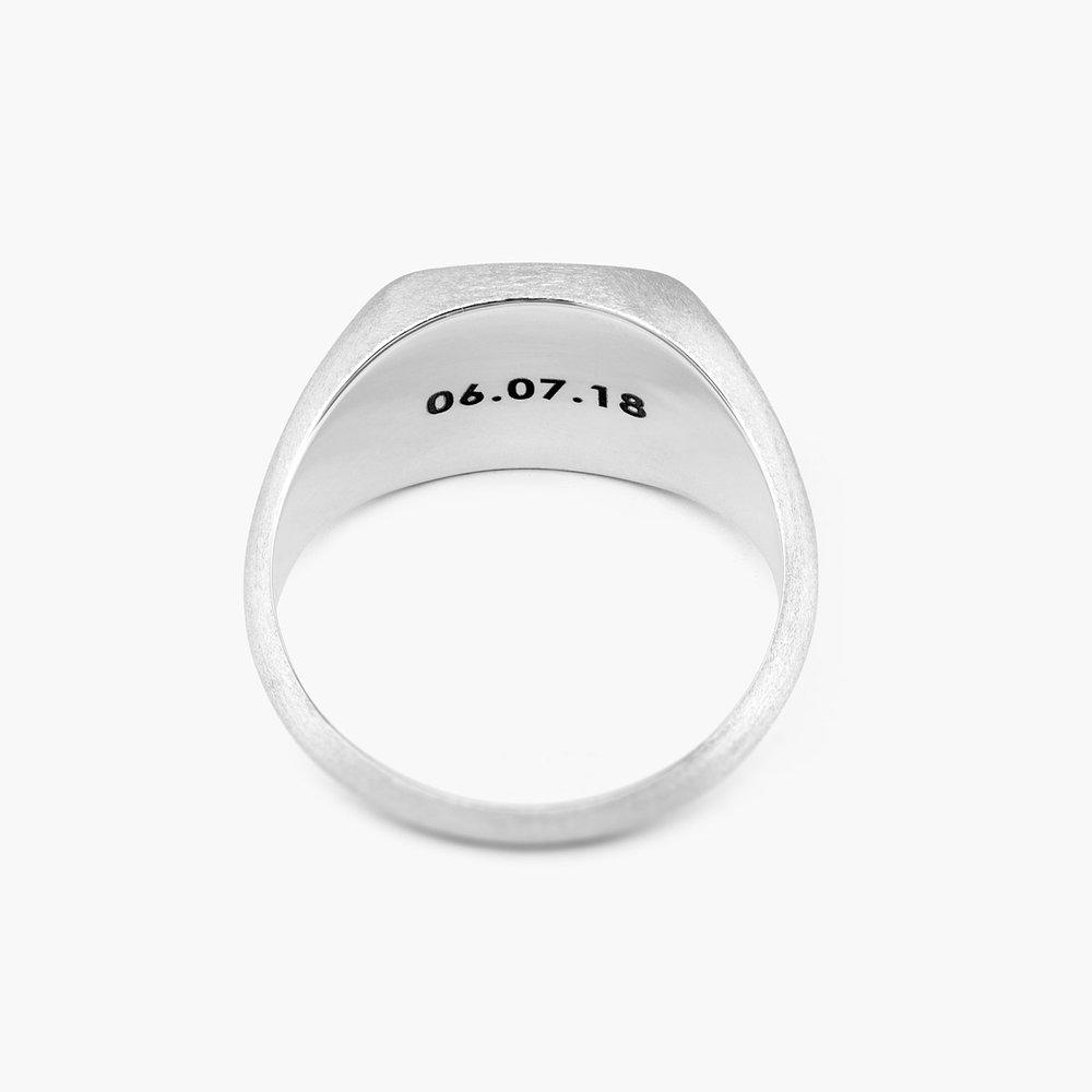 Mustang Steel Signet Ring - Silver - 1