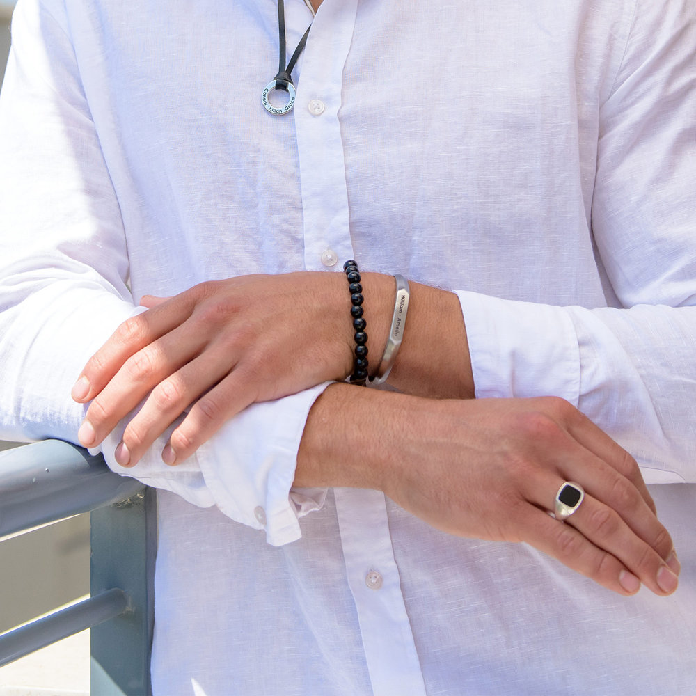 Black Moon Signet Ring - Sterling Silver - 3