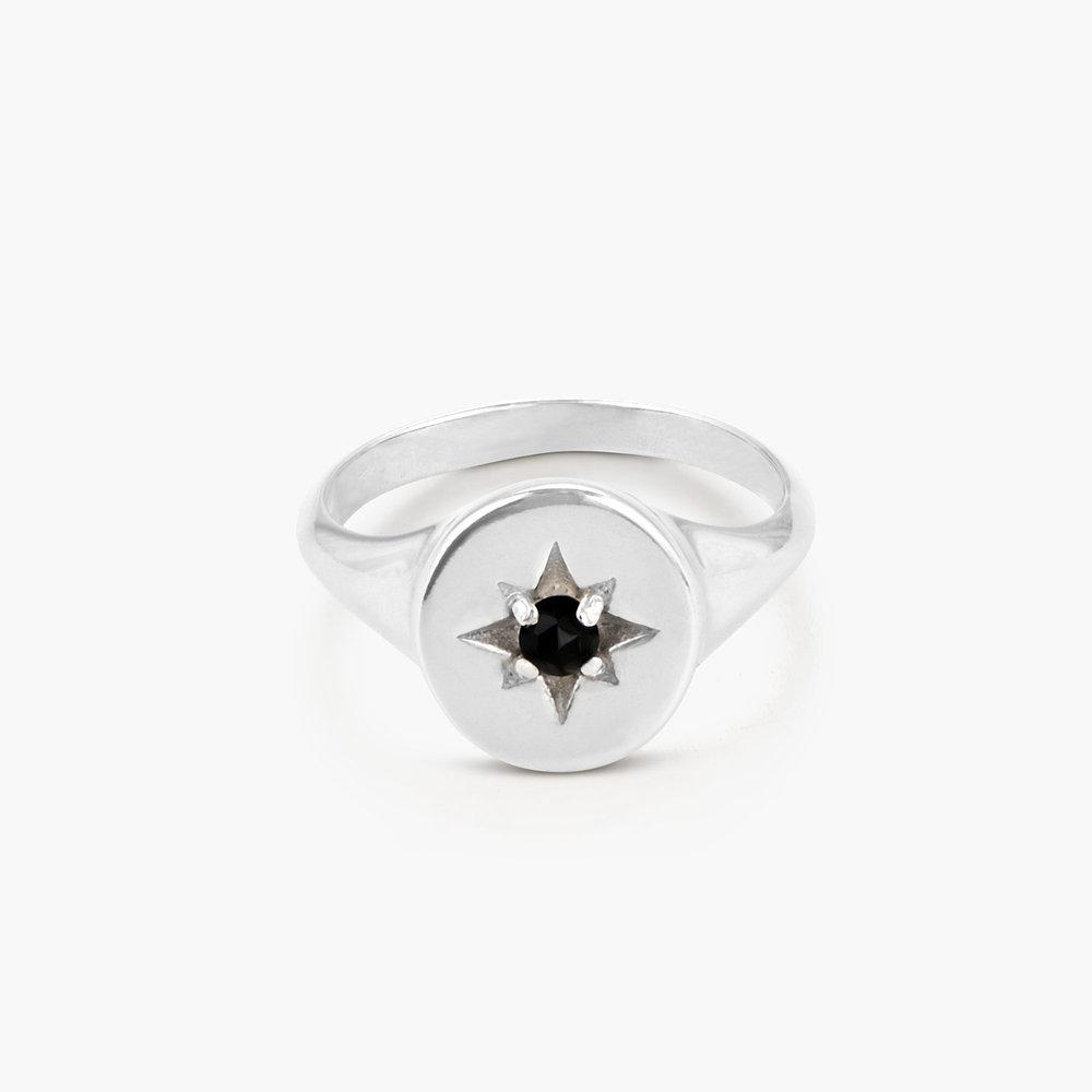 North Star Signet Ring  - Sterling Silver