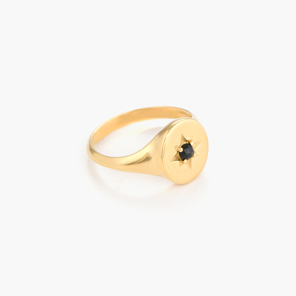 North Star Signet Ring  - Gold Plated - 1