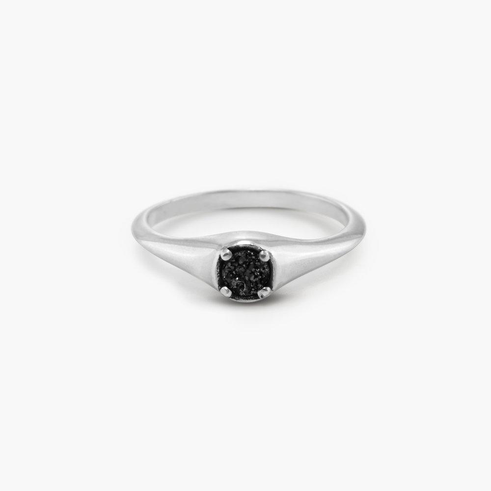 Black Sky Onyx Ring - Sterling Silver