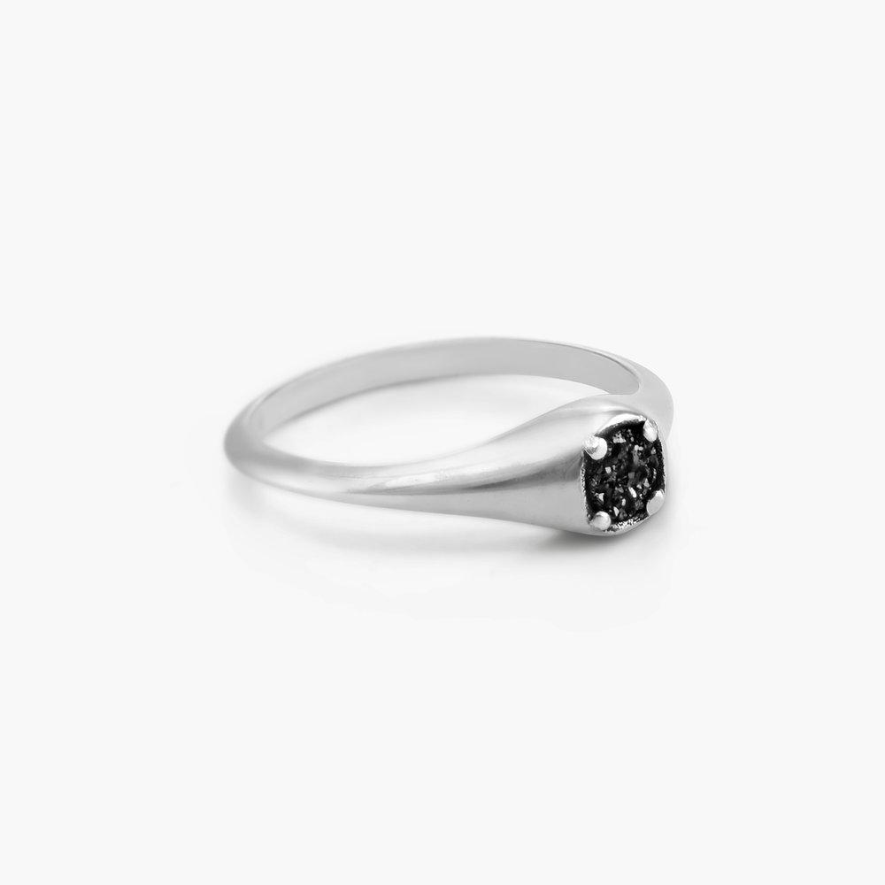 Black Sky Onyx Ring - Sterling Silver - 1