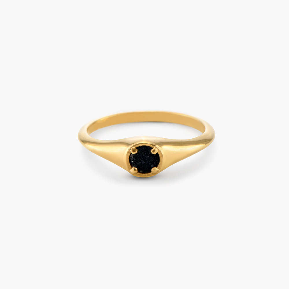 Black Sky Onyx Ring - Gold Plated