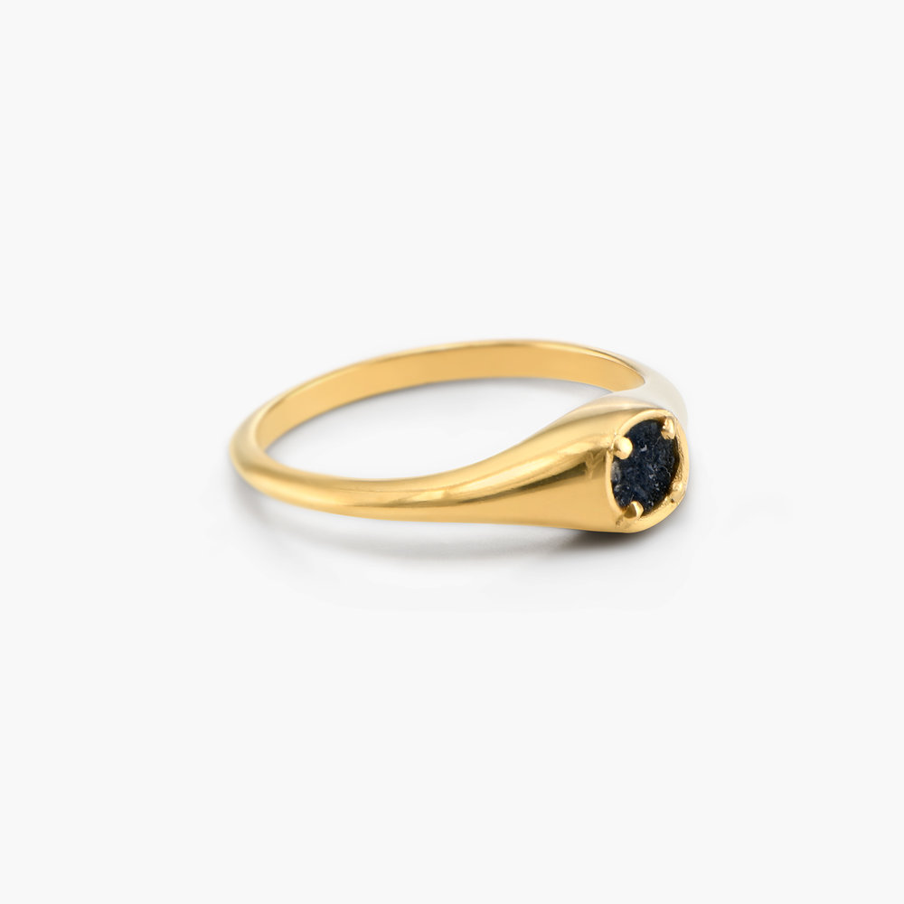 Black Sky Onyx Ring - Gold Plated - 1
