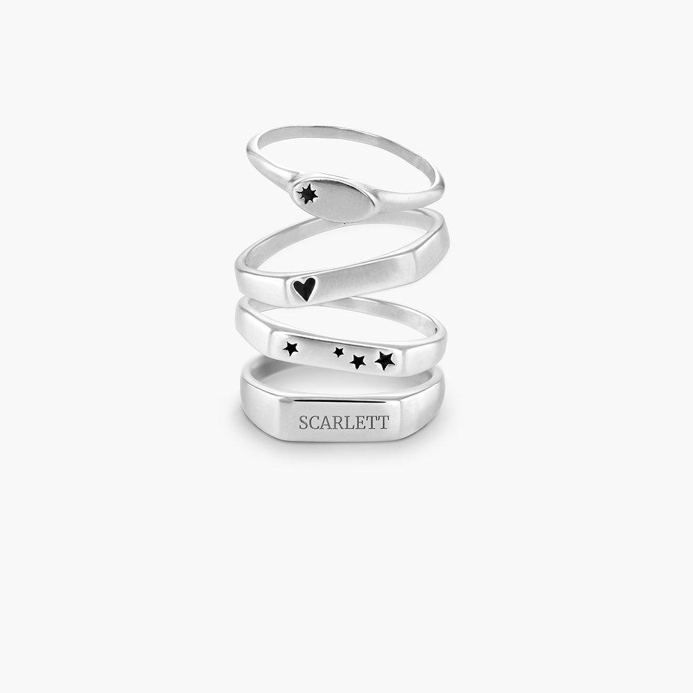 Wanderlust Thin Signet Ring - Sterling Silver - 2