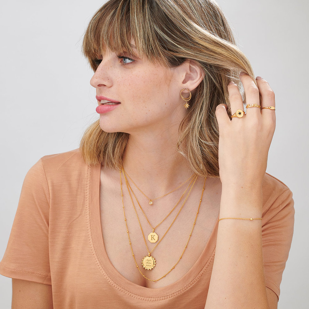 Wanderlust Thin Signet Ring - Gold Plated - 5