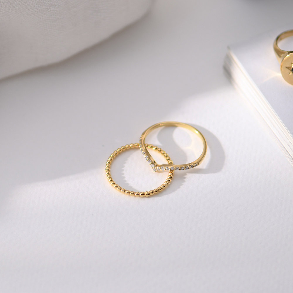 Glisten Dot Ring - Gold Plated - 1