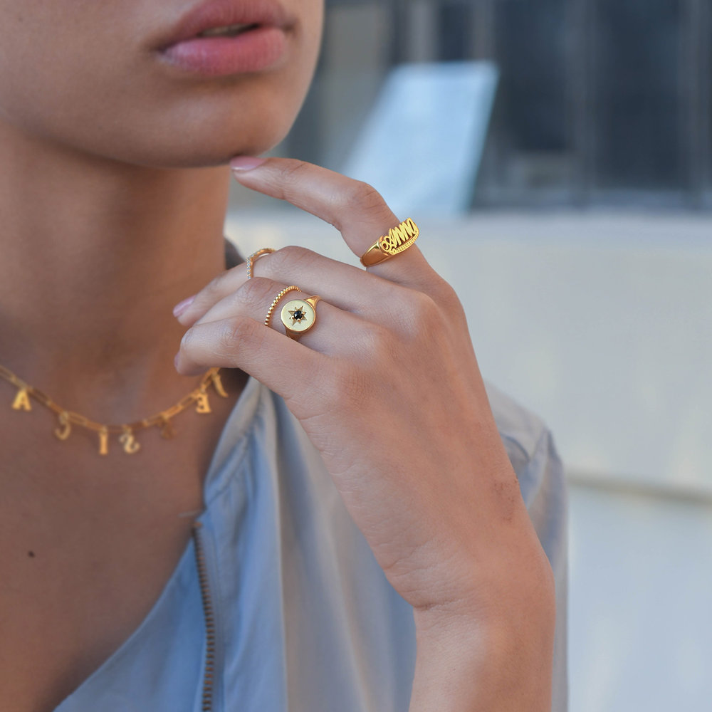Glisten Dot Ring - Gold Plated - 2