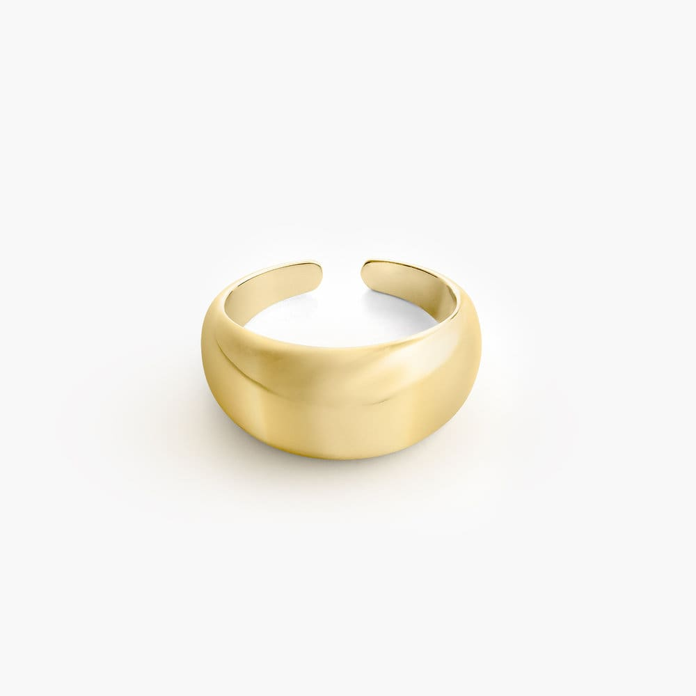 Dome Open Ring - Gold Plating