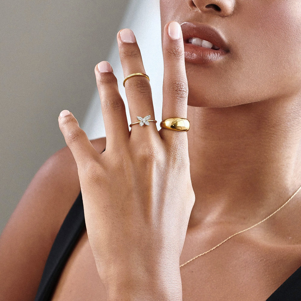 Dome Open Ring - Gold Plating - 3
