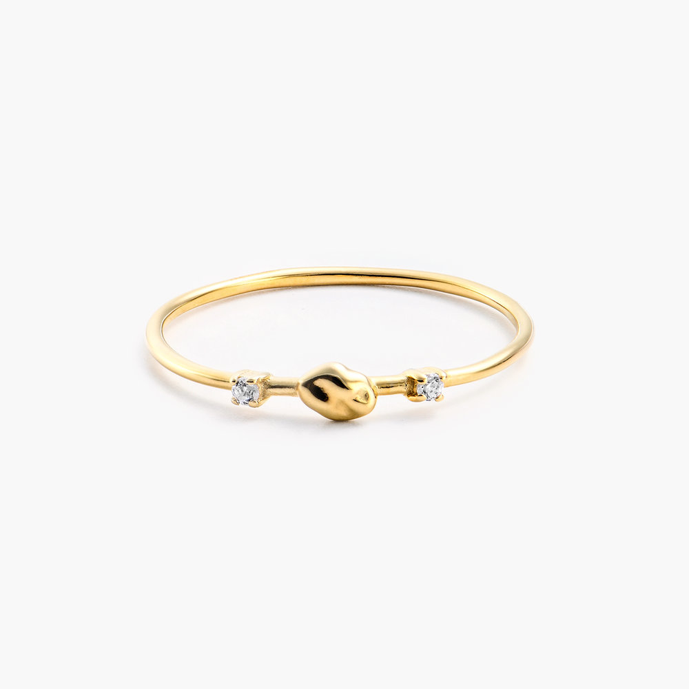 Faye Cubic Zirconia Ring - Gold Plated