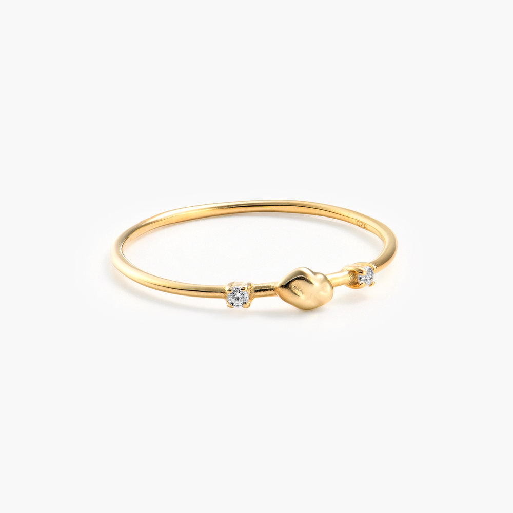 Faye Cubic Zirconia Ring - Gold Plated - 1