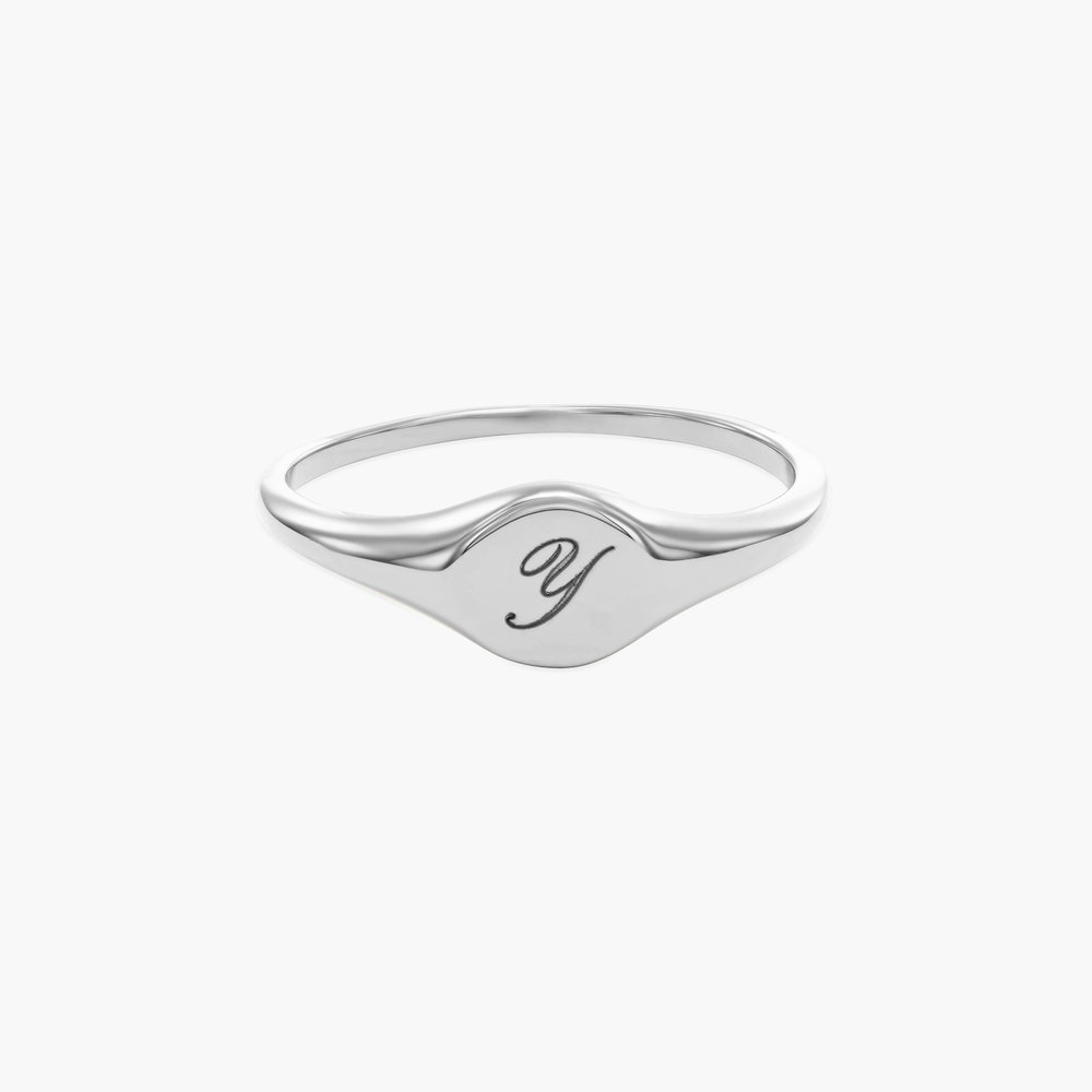 Custom Initial Ring - Sterling Silver