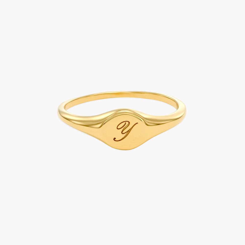 Tony Custom Initial Ring - Gold Plating