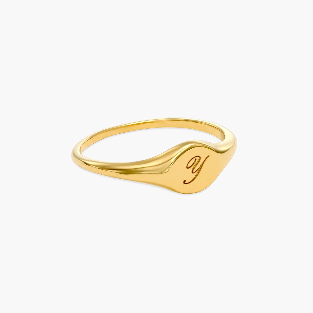 Tony Custom Initial Ring - Gold Plating - 1