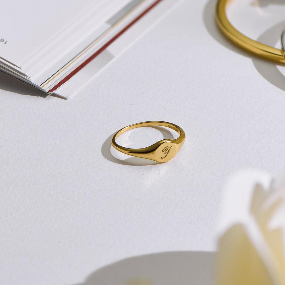 Tony Custom Initial Ring - Gold Plating - 3