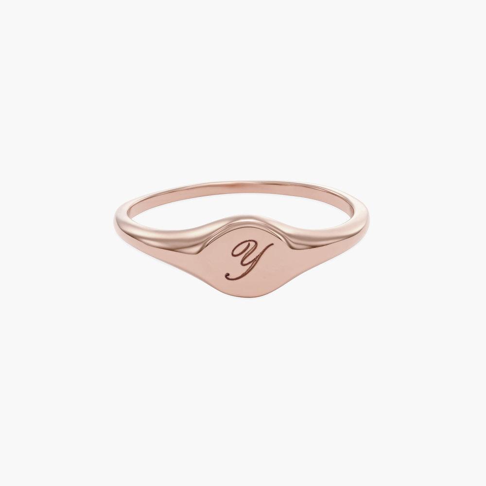 Tony Custom Initial Ring - Rose Gold Plating
