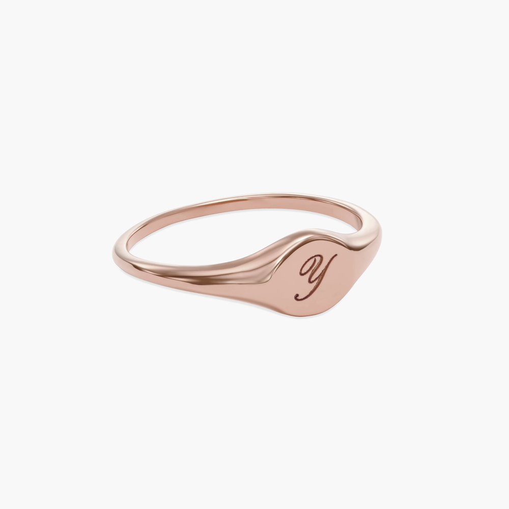 Tony Custom Initial Ring - Rose Gold Plating - 1