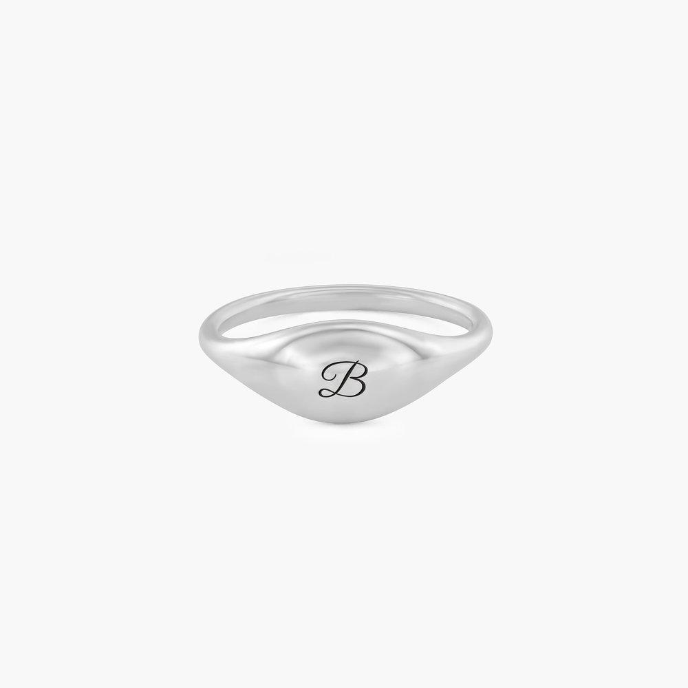 Kara Custom Name Ring - Sterling Silver