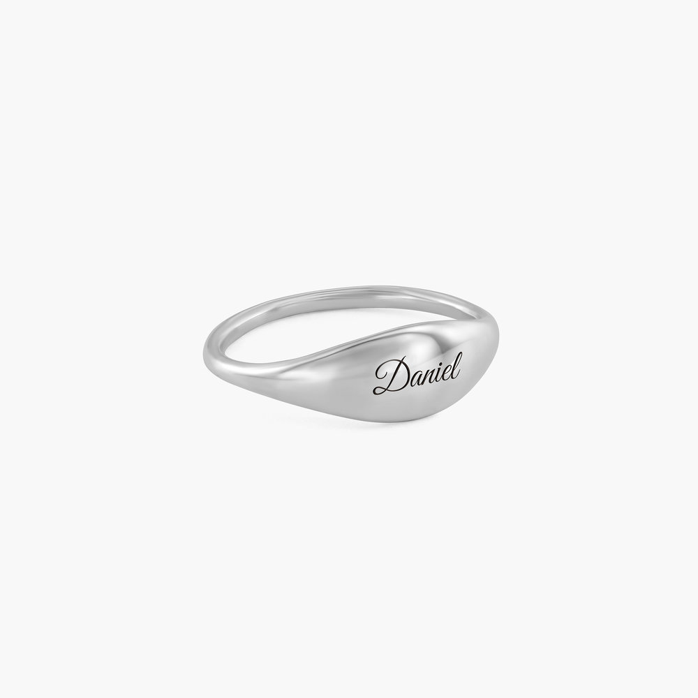 Kara Custom Name Ring - Sterling Silver - 1