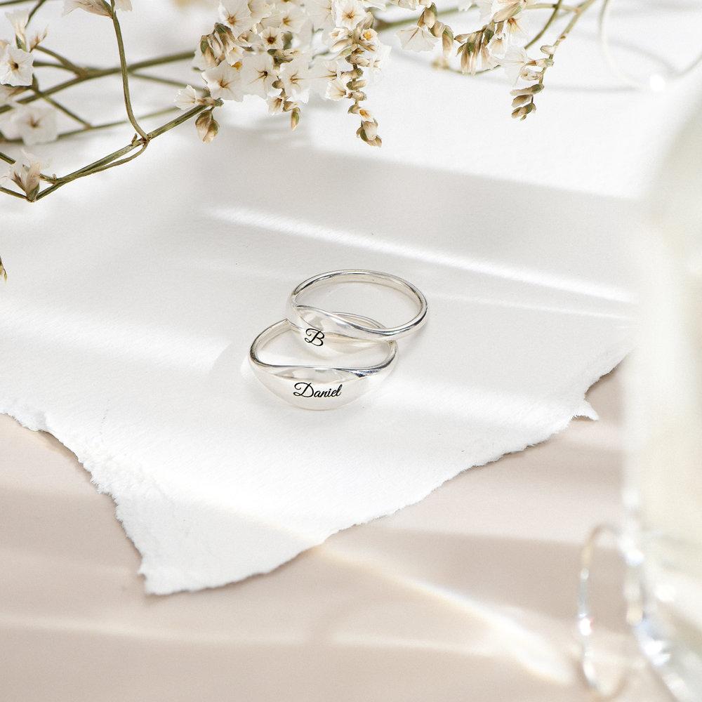 Kara Custom Name Ring - Sterling Silver - 2